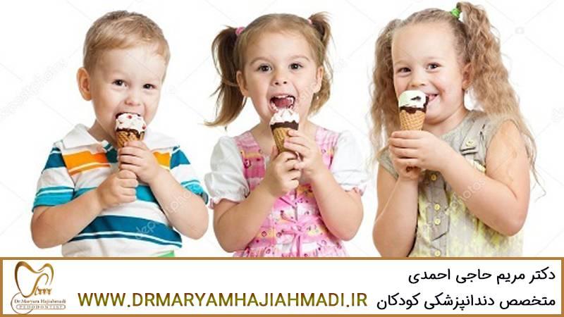 بستنی با دندان کودک چه میکند؟